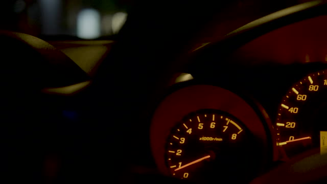 speedometer night - speedometer stock videos & royalty-free footage
