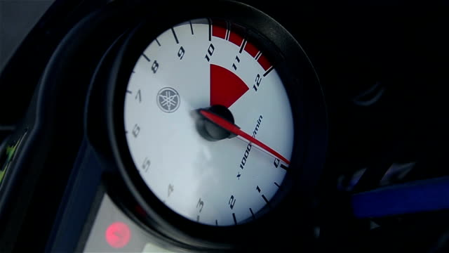 speedometer on a motorcycle, close-up - meter instrument of measurement stock videos & royalty-free footage