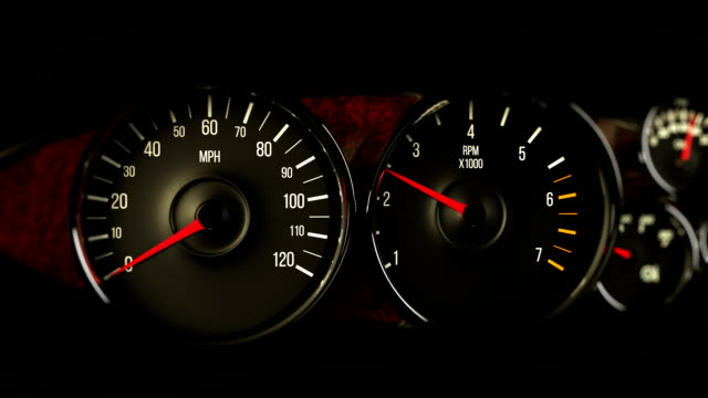 speedometer rev and race - car engine stock videos & royalty-free footage