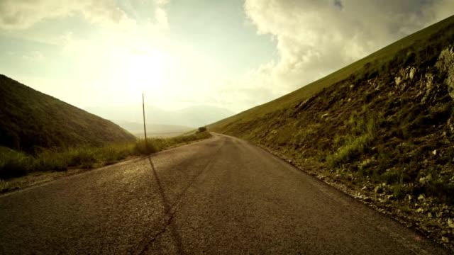 Speedy Rally Car Onboard Camera on Mountain Road
