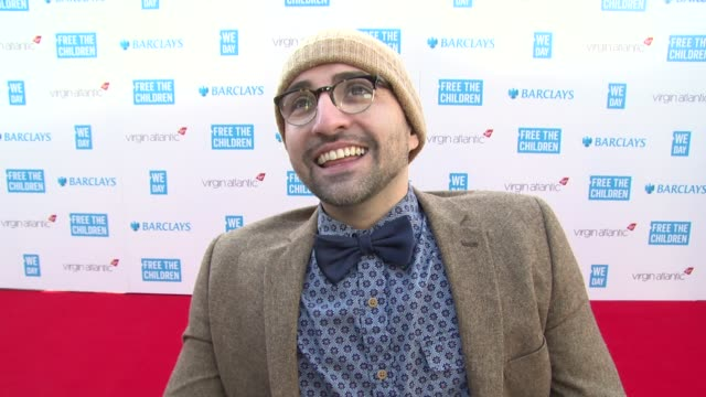 spencer west on we day, current work and world book day at we day uk at wembley arena on march 5, 2015 in london, united kingdom - wembley arena stock videos & royalty-free footage