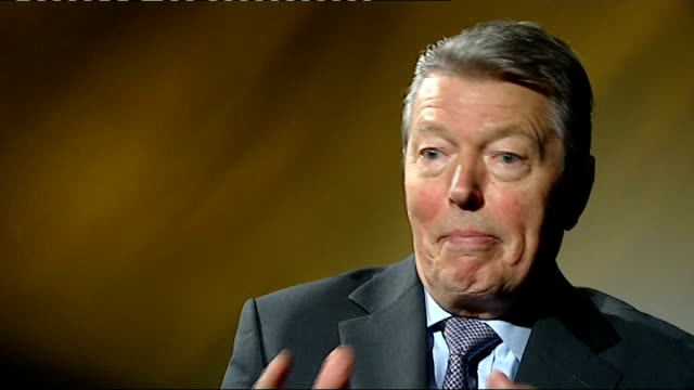 spending cuts backed by thirtyfive business leaders in letter to newspaper int alan johnson mp interview sot it is ludicrous that bankers are paying... - alan johnson stock videos & royalty-free footage