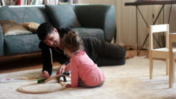 Spending quality playtime with father