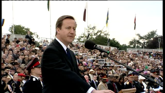 spending review; david cameron mp speech sot - as a government we will do everything we can to support you, to look after your families and to... - 証書点の映像素材/bロール