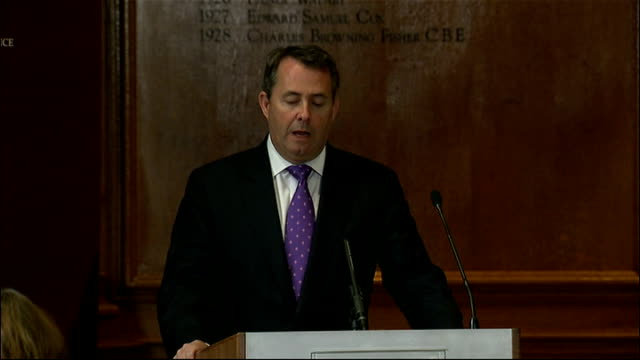 liam fox speech on 'the need for defence reform'; england: london: the royal institute of chartered surveyors: int dr liam fox speech sot - for many... - 12 13 years stock videos & royalty-free footage