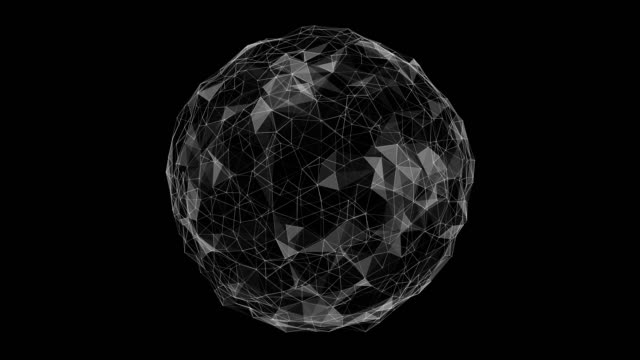 sphere rotate loop cycle animation cycle plexus lowpoly - plexus stock videos & royalty-free footage