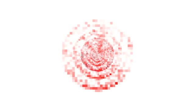 vídeos de stock, filmes e b-roll de aumento da contração, preto de esferas - vermelho (transição) da escultura cérebro - cinza descrição de cor