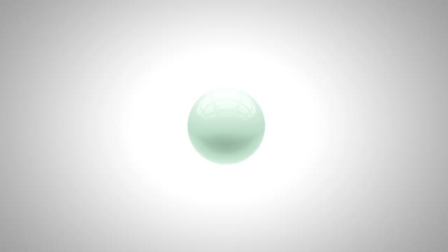 Spheres swell and shrink in an abstract animation with an accompanying luma matte.