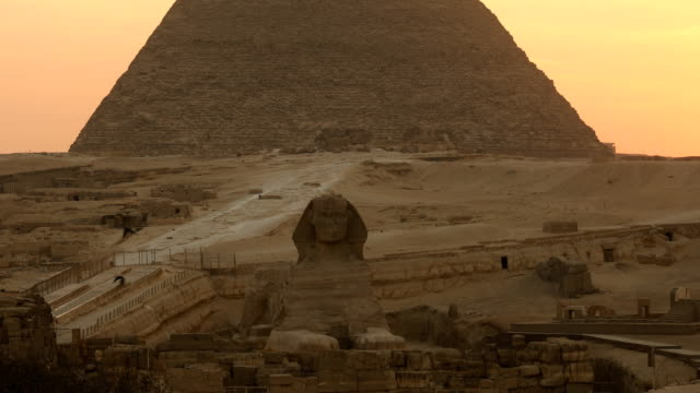 sphinx and great pyramids at giza, cairo, egypt - history stock videos & royalty-free footage