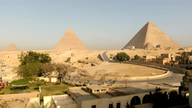 sphinx and great pyramids at giza, cairo, egypt - cairo stock videos & royalty-free footage