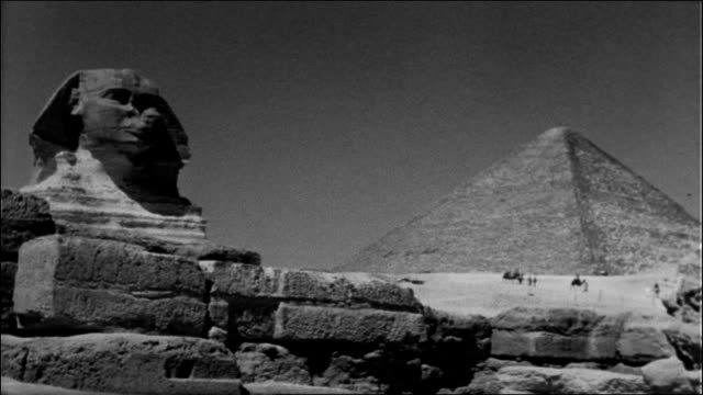 sphinx and pyramids - egypt stock videos & royalty-free footage