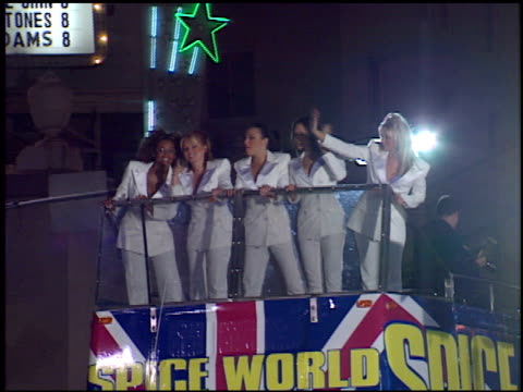 spice girls at the 'spice world' premiere at grauman's chinese theatre in hollywood, california on january 22, 1998. - premiere stock videos & royalty-free footage