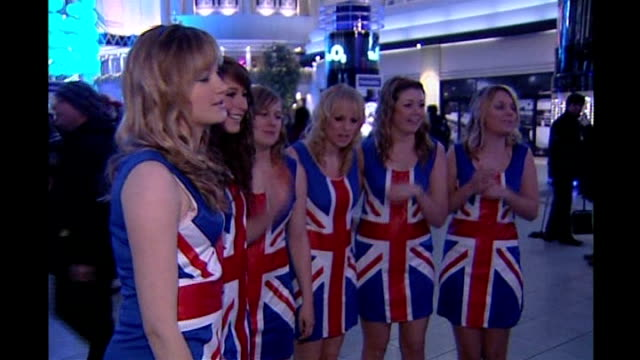 spice girls reunion tour first british concert spice girls fans outside o2 centre some dressed as spice girls - spice girls stock videos & royalty-free footage