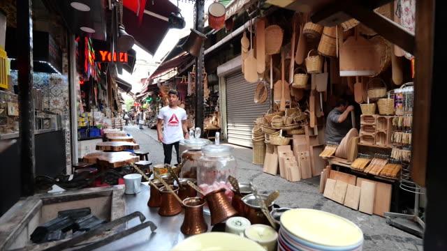 spice market istanbul turkey. - bosphorus stock videos & royalty-free footage