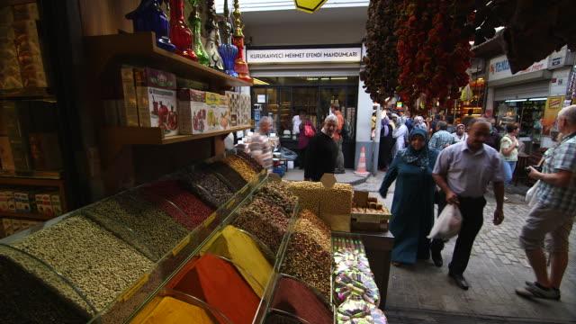 spice shop front - 中東点の映像素材/bロール