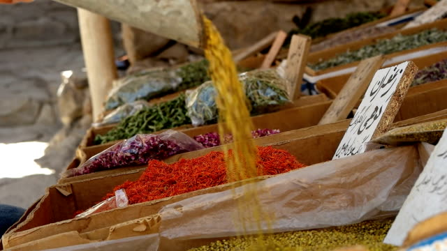spices and herbs on background - iran stock videos and b-roll footage