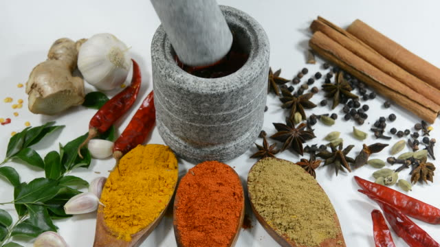spices and herbs - spice stock videos and b-roll footage