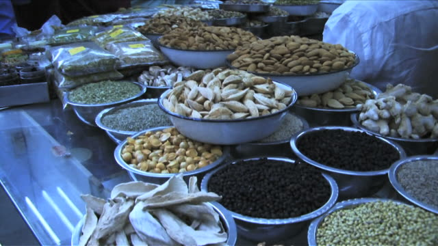 spices in market; mumbai, india - short phrase stock videos and b-roll footage