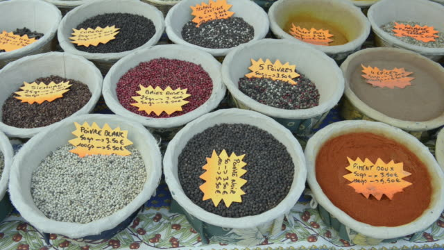 spices on street market - apt stock videos and b-roll footage