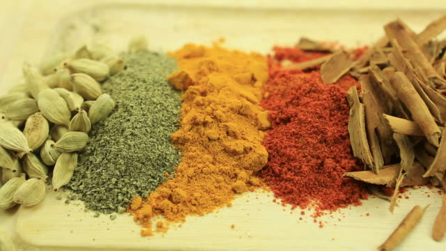spices - curry powder stock videos and b-roll footage