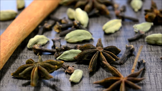 spices - star anise stock videos and b-roll footage