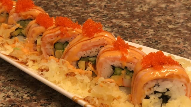Spicy Grilled Salmon Roll High Res Stock Video Footage Getty Images
