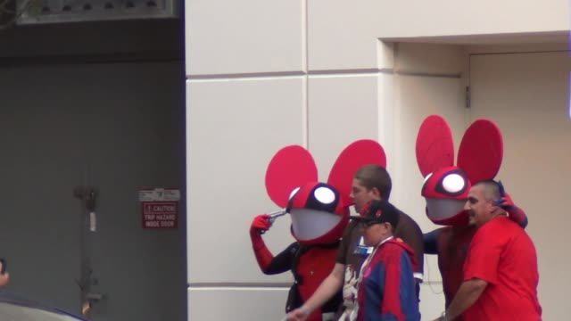 Spiderman Deadmau5 costumes on streets of San Diego Comic Con at Celebrity Sightings ComicCon International 2013 Celebrity Sightings ComicCon...