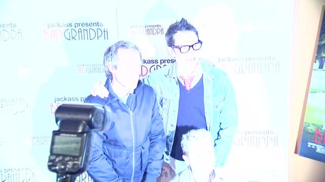 Spike Jonze Johnny Knoxville and Jackson Nicoll at Jackass Presents Bad Grandpa New York Special Screening at Sunshine Landmark New York NY on...