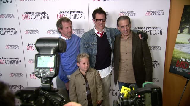 Spike Jonze Johnny Knoxville Jackson Nicoll and guest at Jackass Presents Bad Grandpa New York Special Screening at Sunshine Landmark New York NY on...