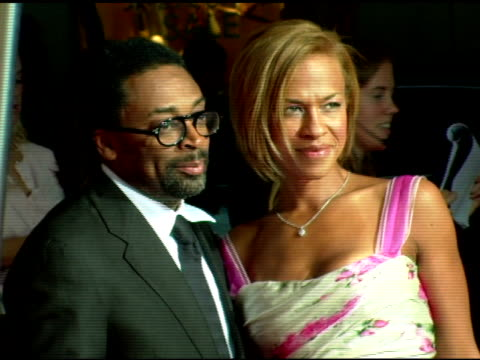 Spike Lee and Tanya Lee at the Cartier and Interview Magazine Celebration of Love at the Cartier Mansion in New York New York on June 8 2006