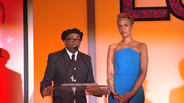 spike lee and tonya lewis lee at the 7th annual essence black women in hollywood luncheon at beverly hills hotel on february 27, 2014 in beverly... - beverly hills hotel stock videos & royalty-free footage