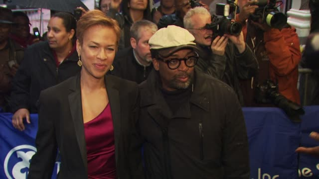 Spike Lee and Tonya Lewis Lee at the 'Fences' Broadway Opening Night Arrivals at New York NY