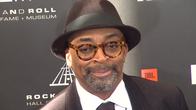 spike lee at 28th annual rock and roll hall of fame induction ceremony arrivals 4/18/2013 in los angeles ca - hall of fame stock videos and b-roll footage