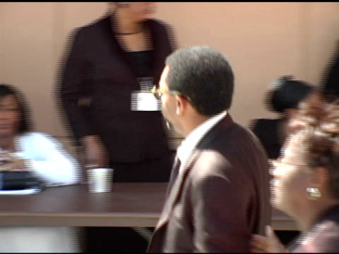 spike lee at the funeral of johnnie l cochran, jr arrivals at west angeles cathedral in los angeles, california on april 6, 2005. - johnnie cochran stock videos & royalty-free footage