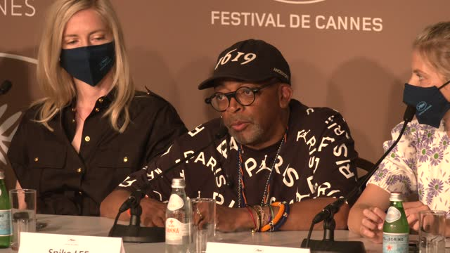 spike lee, director and president of the jury, on the importance of his connection with the cannes film festival attends the jury press conference... - film festival stock videos & royalty-free footage