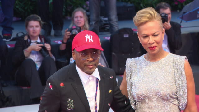spike lee, tonya lewis lee at 'a star is born' red carpet arrivals 75th venice film festival on august 31, 2018 in venice, italy. - film festival stock videos & royalty-free footage