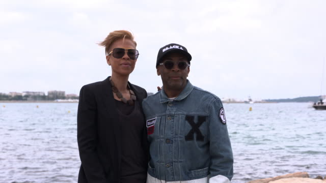broll spike lee tonya lewis lee jackson lee satchel lee ab shawky attend blackhouse brunch with spike lee the 71st annual cannes film festival on may... - satchel stock videos & royalty-free footage
