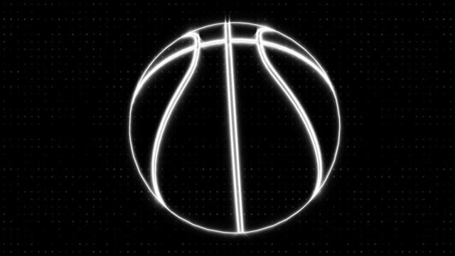 Spin Outline Basketball