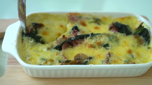 Spinat Lasagne - italienische Küche Stil