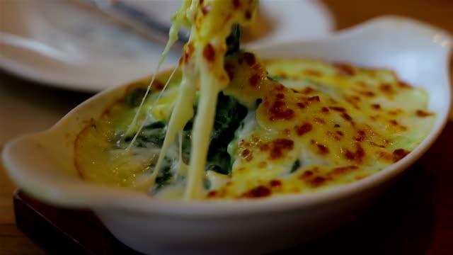 Spinat und Käse