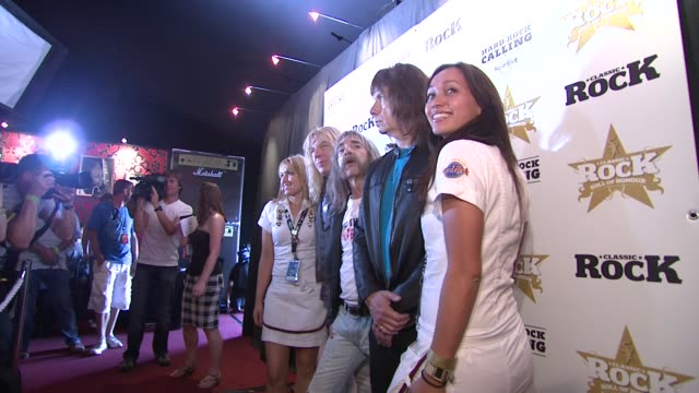 spinal tap at the spinal tap announce classic rock roll of honour nominations at london england - モダンロック点の映像素材/bロール