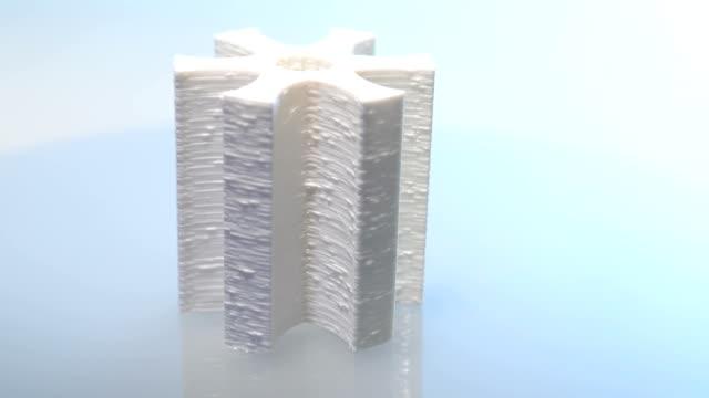 vídeos de stock e filmes b-roll de fiação 3d modelo de impressão - modelo objeto