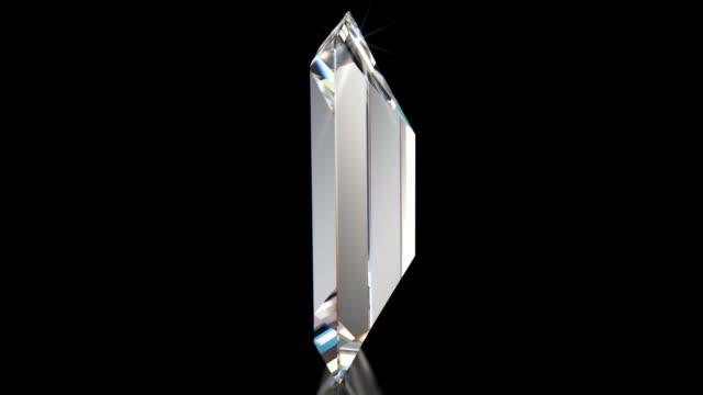 vidéos et rushes de filature brillant diamant avec baguette coupe - diamand