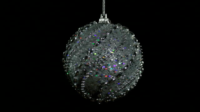 spinning christmas ball - silver coloured stock videos & royalty-free footage