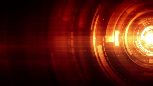 Spinning Circles Background Loop - Fiery Red (Full HD)