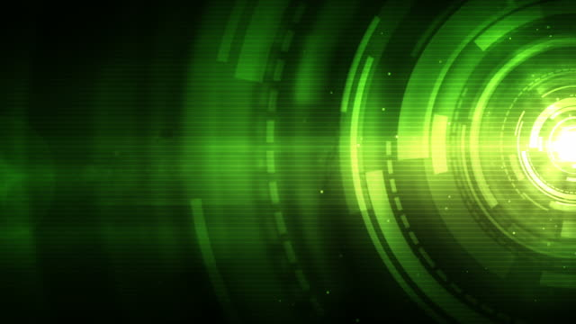 Spinning Circles Background Loop - Neon Green (Full HD)