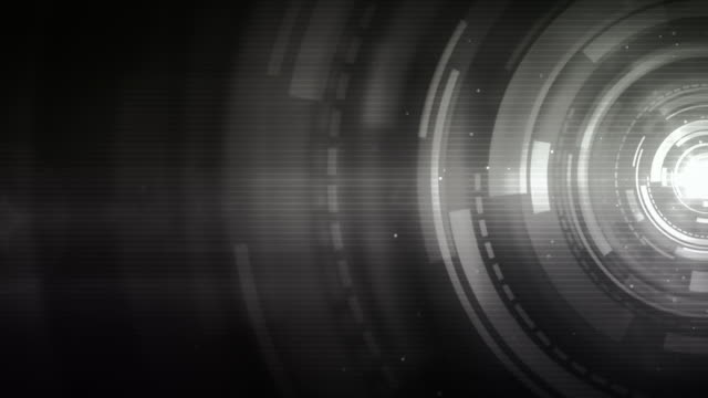 spinning circles background loop - night silver (full hd) - lens eye stock videos & royalty-free footage