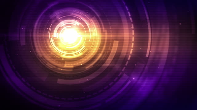 Spinning Circles Background Loop - Sunset Pink Centred (Full HD)
