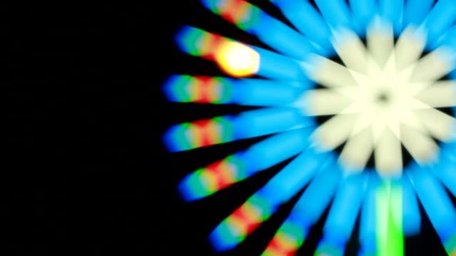 スピニングサークルの背景ループ(フル hd ) - ハイコントラスト点の映像素材/bロール