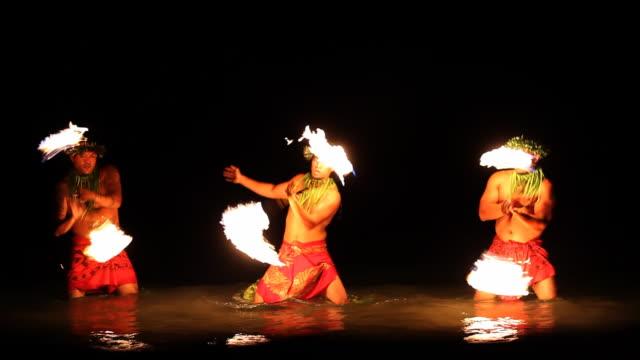 Spinning Fire Dancers